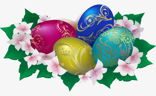 矢量手绘复古彩蛋