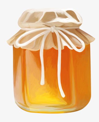 手绘蜂蜜罐子