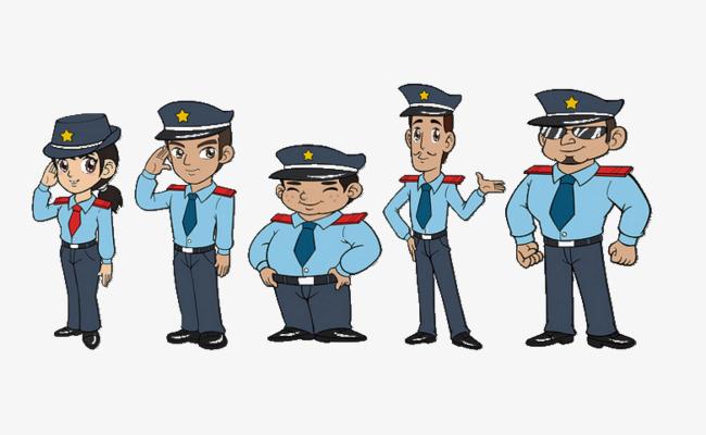 保安卡通人物图片图片