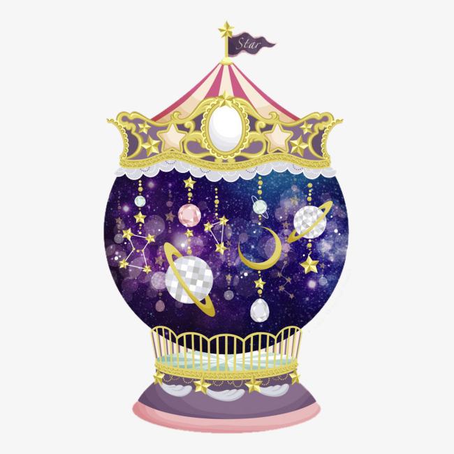 手绘星球水晶球