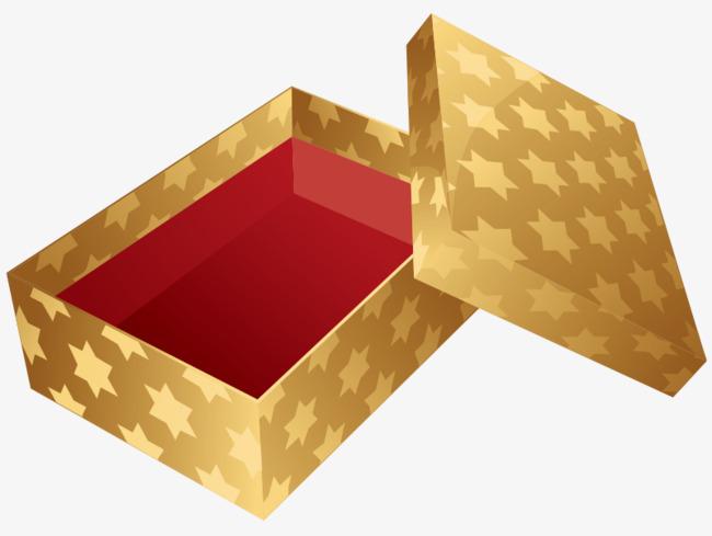 金色礼物盒png免费素材矢量
