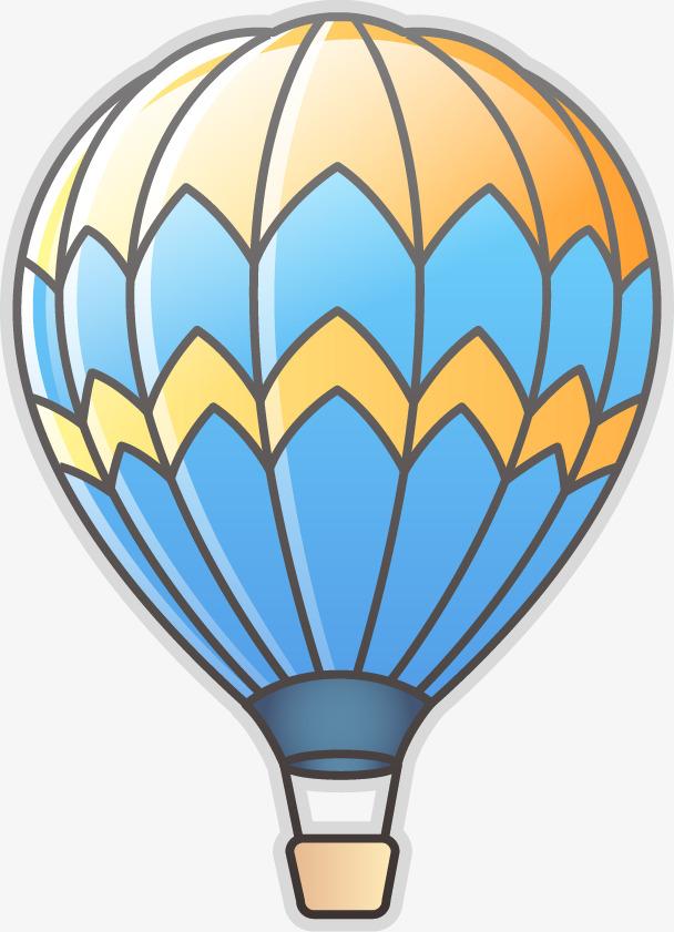 可爱热气球png矢量素材