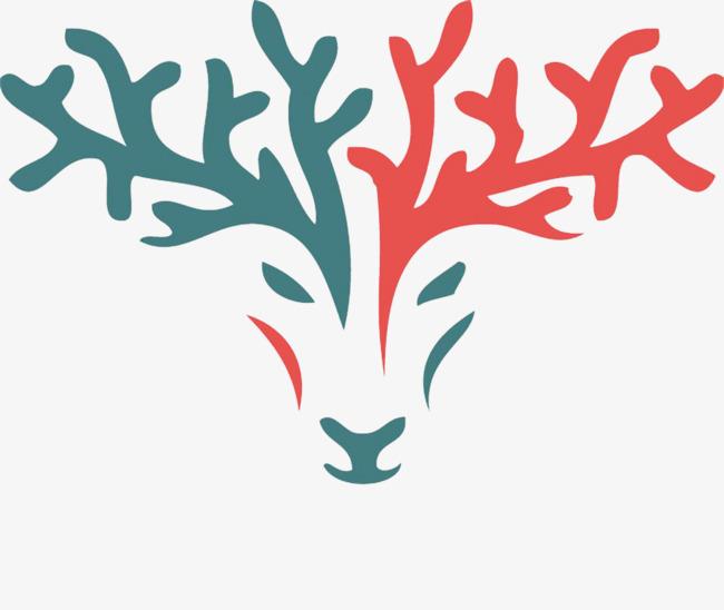 鹿线条装饰素材图片