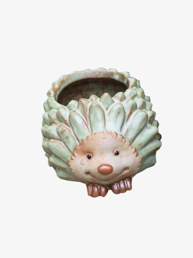 花盆 瓷器 动物图案 卡通 刺猬             此素材是90设计网官方