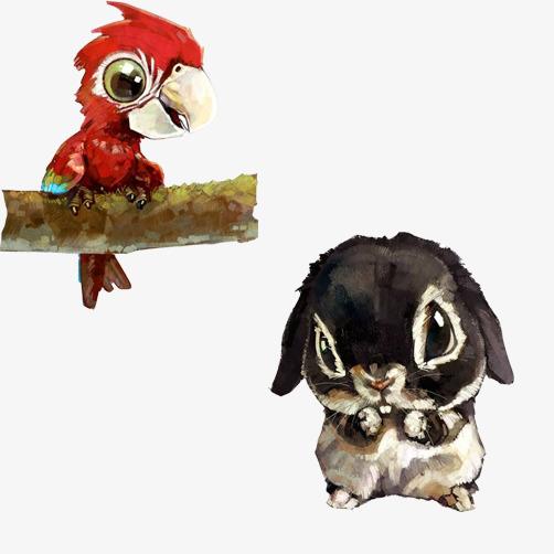 图片 > 【png】 小动物水彩画图片  分类:手绘动漫 类目:其他 格式