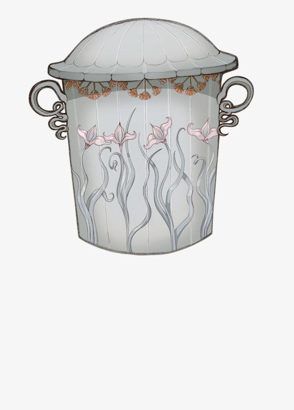欧式手绘垃圾桶