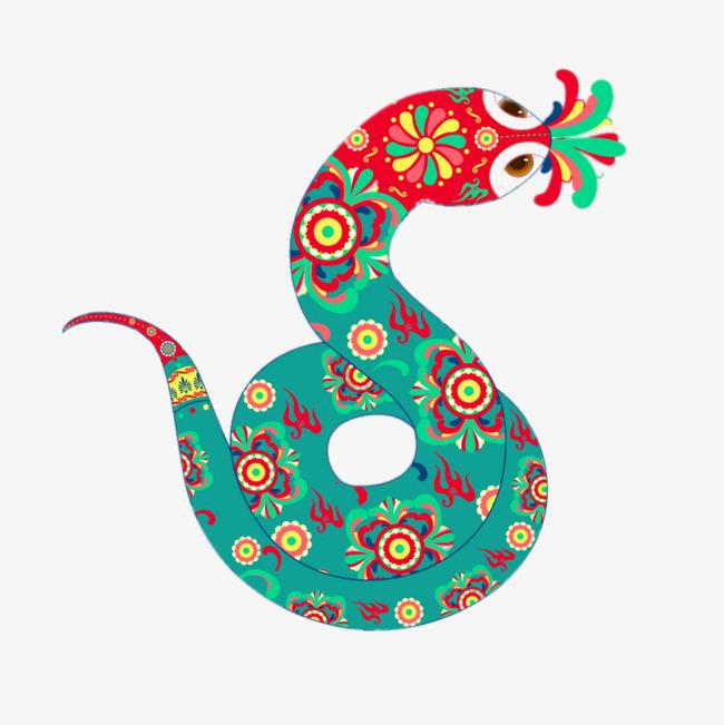 卡通小花蛇
