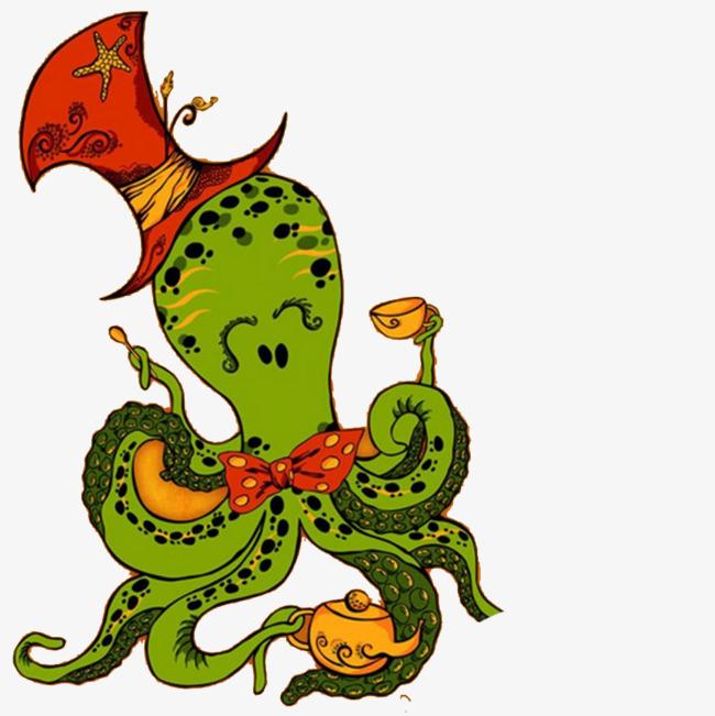 卡通章鱼插画手绘