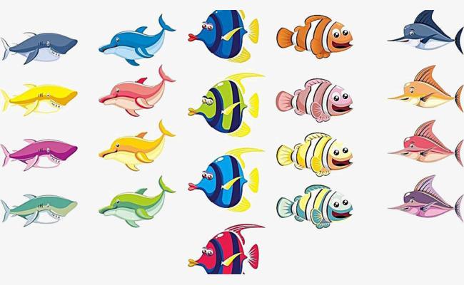 > 鱼图片漫画 鱼类动漫图片  鱼卡通图片图片素材,百图汇提供鱼卡通