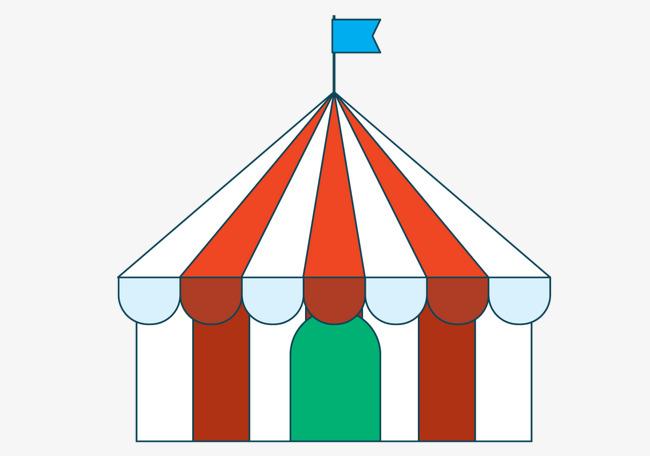 手绘条纹帐篷