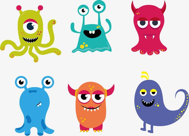 卡通小怪兽图片