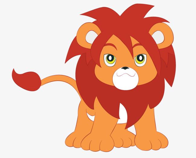 手绘卡通狮子