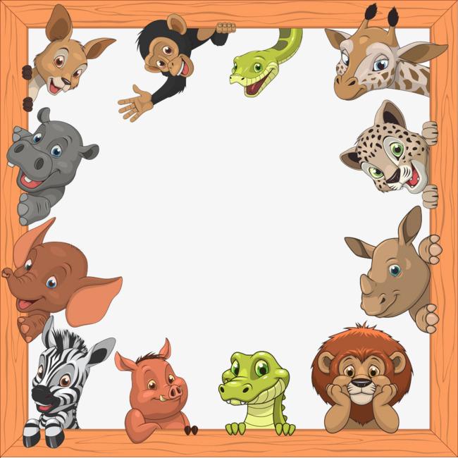 小动物围成边框
