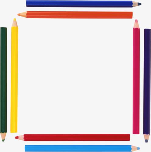 彩色铅笔边框