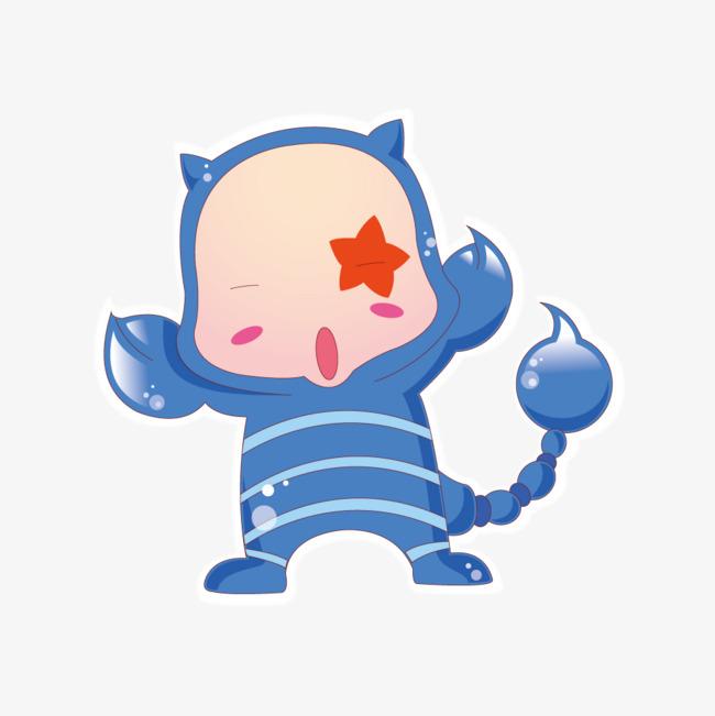 蓝色可爱小蝎子服装图片