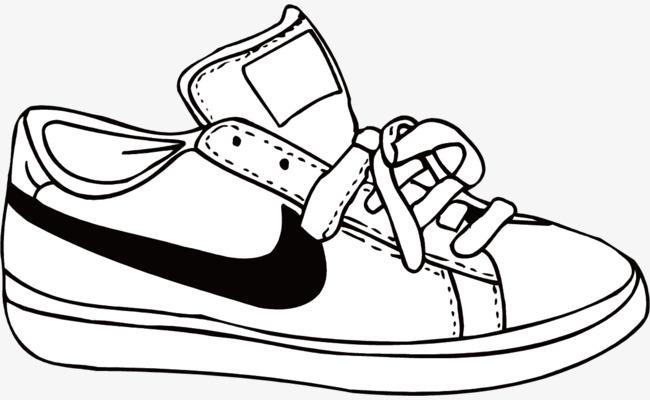 矢量耐克手绘鞋子素材图片免费下载 高清装饰图案psd 千库网 图片编号6280170