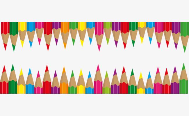 彩色铅笔装饰边框
