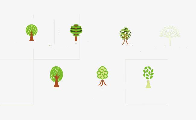 小树扁平免扣素材图片