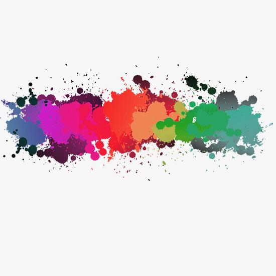 彩色喷溅颜料