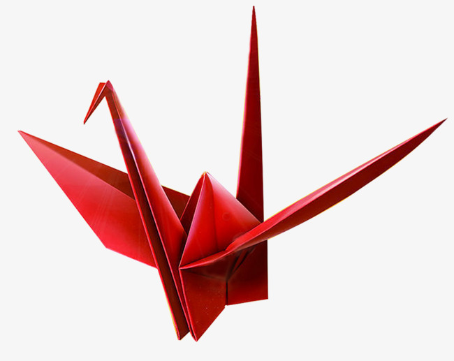 卡通红色千纸鹤图片
