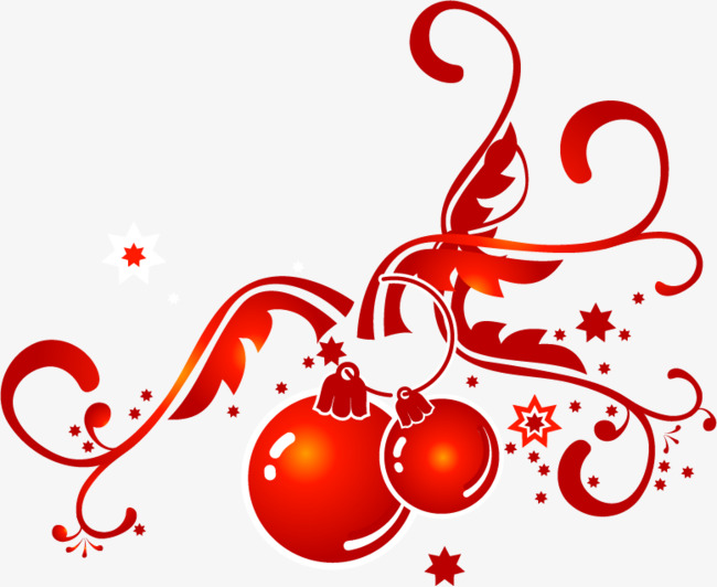 圣诞节可爱圆球png矢量素材图片