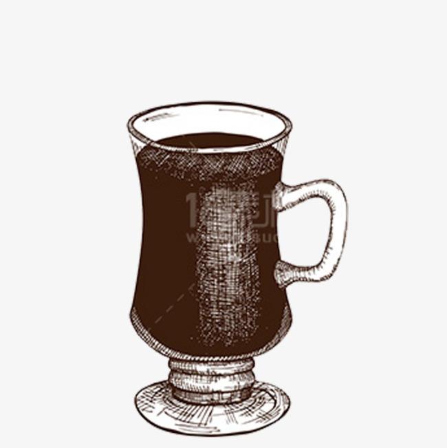 手绘杯子素材免抠图