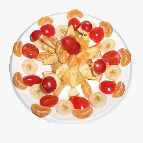 西红柿橘子水果拼盘
