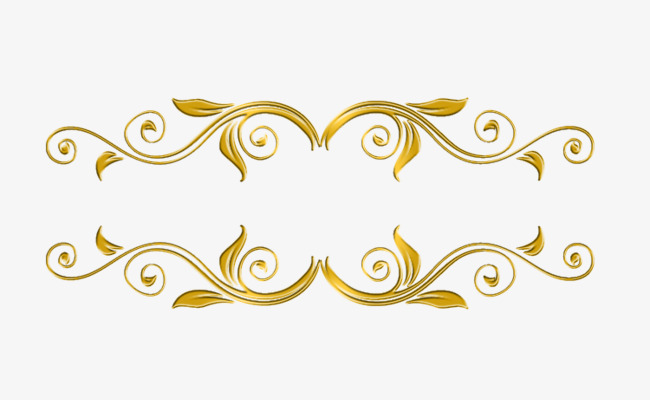 金色欧式花纹素材