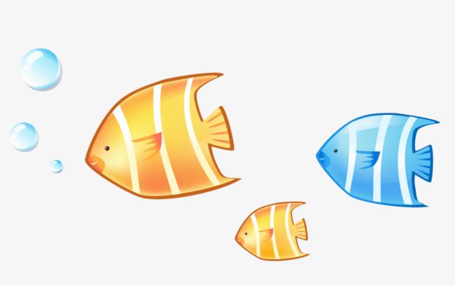吐着泡泡的小鱼素材图片免费下载 高清卡通手绘psd 千库网 图片编号6291393