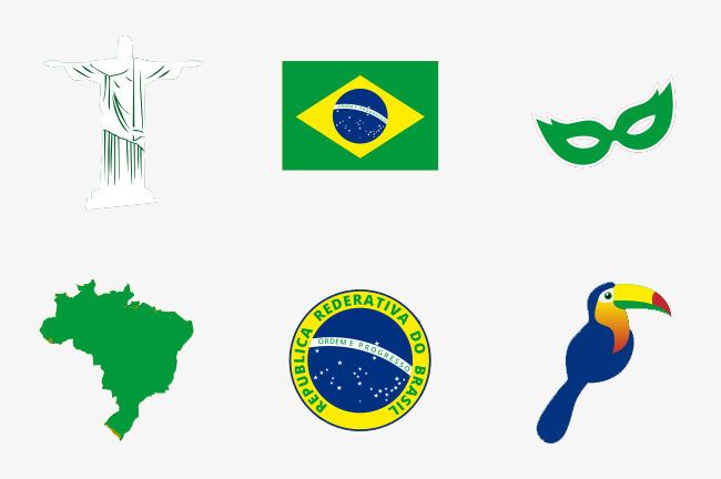巴西国旗地图国徽素材图片免费下载 高清PPT元素psd 千库网 图片编号6300019