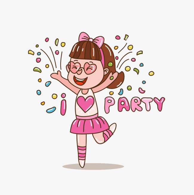 图片 > 【png】 可爱派对女孩  分类:手绘动漫 类目:其他 格式:png