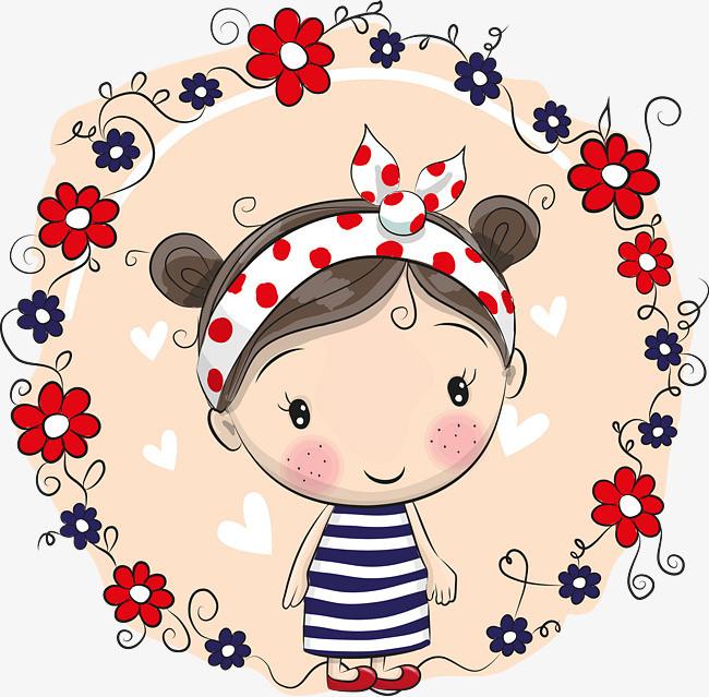 图片 > 【png】 可爱卡通女孩儿  分类:手绘动漫 类目:其他 格式:png