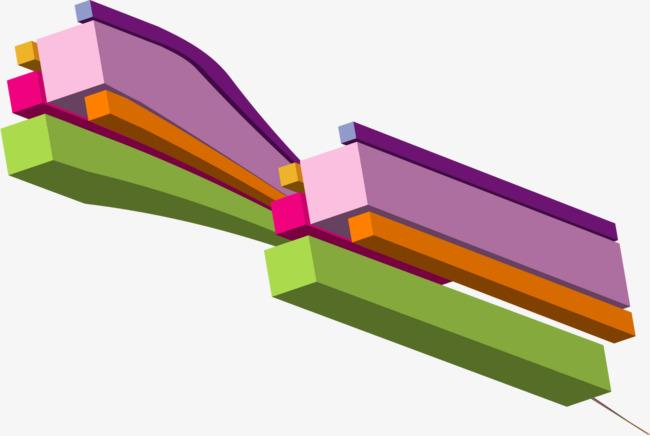 矢量手绘立体几何