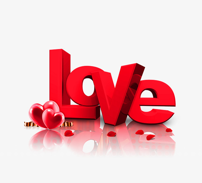 love的立体字手绘图片