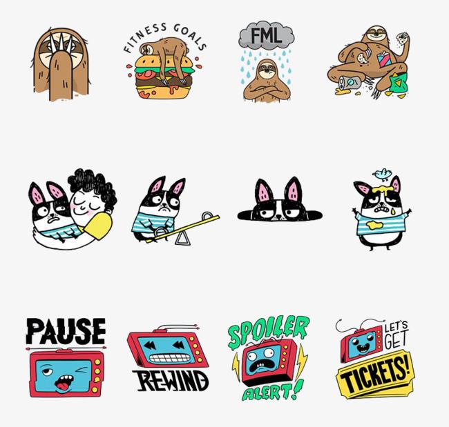 动画卡通表情动作符号图片