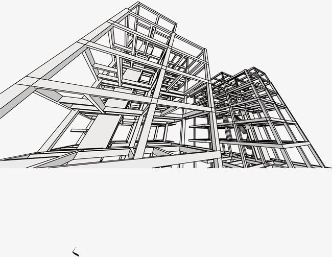 建筑结构透视图