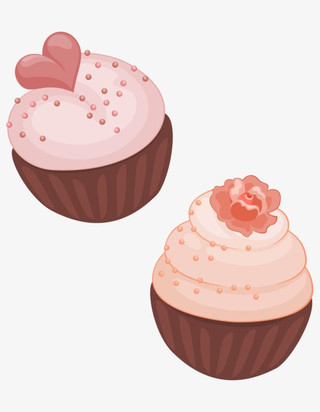 卡通手绘美味心形蛋糕图片