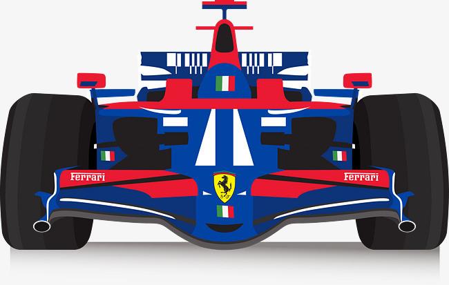 矢量手绘卡通f1赛车