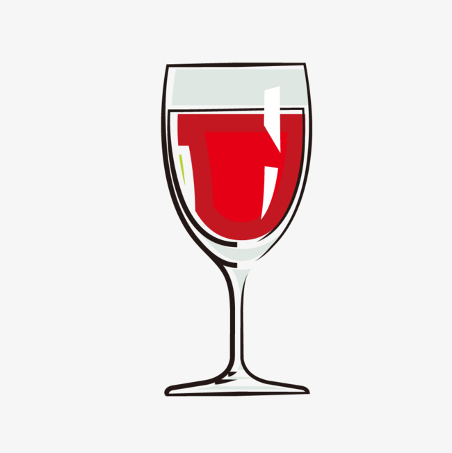 简单简笔画红酒杯图片