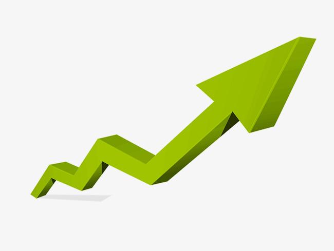 趋势箭头   箭头   绿色   趋势   上升   上升箭头   趋势箭头图片