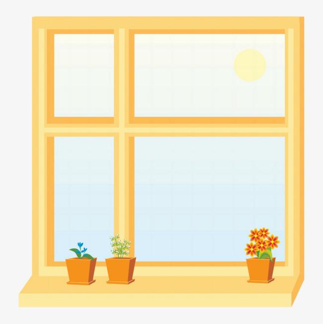 高清png手绘动漫素材免费下载,本次卡通木质窗户作品为设计师绿柚创作