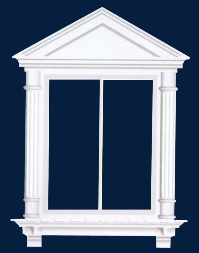 欧式石膏门窗