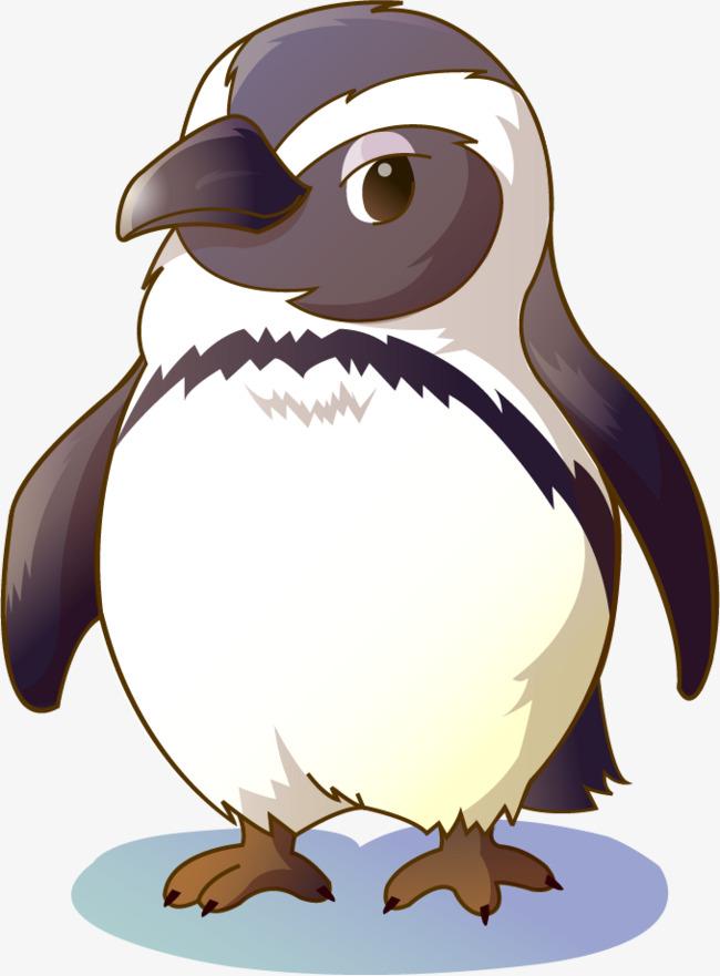 矢量手绘企鹅