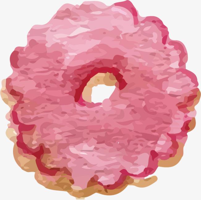 粉色甜甜圈