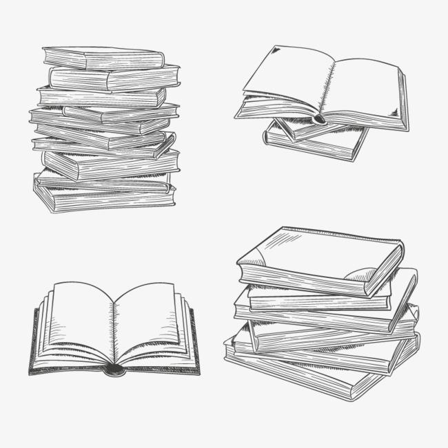 矢量一摞书本