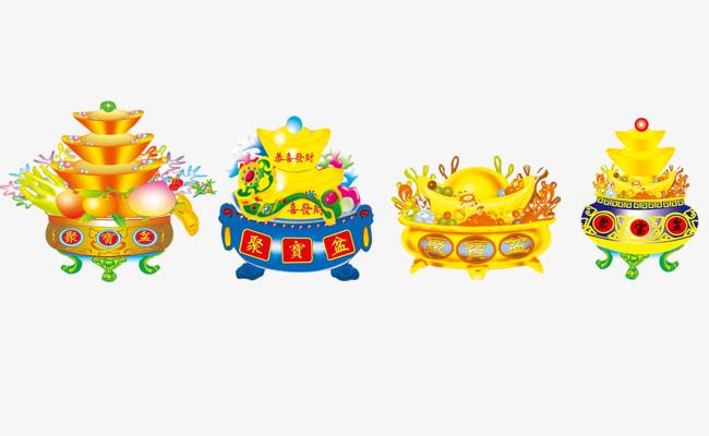 中国风聚宝盆图片