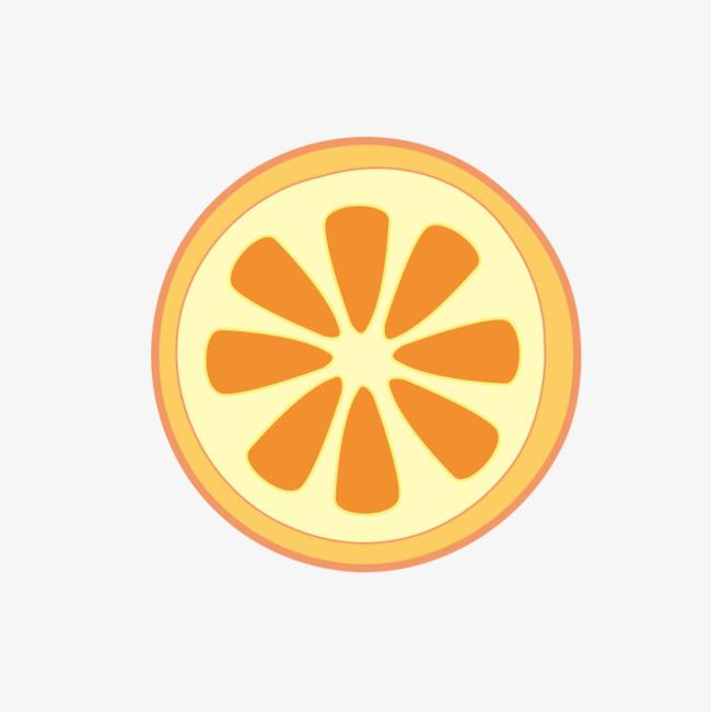 卡通水果橘子矢量png素材-90设计