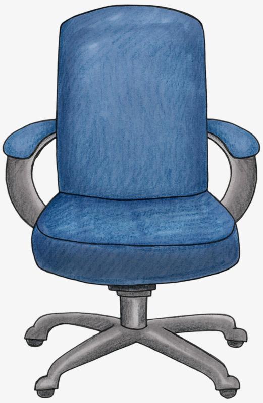 卡通手绘办公椅