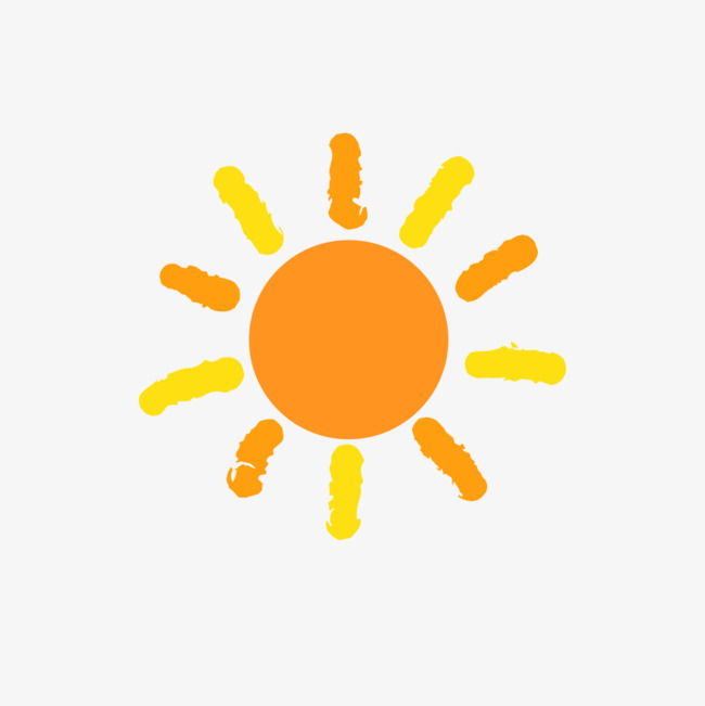 手绘卡通小太阳