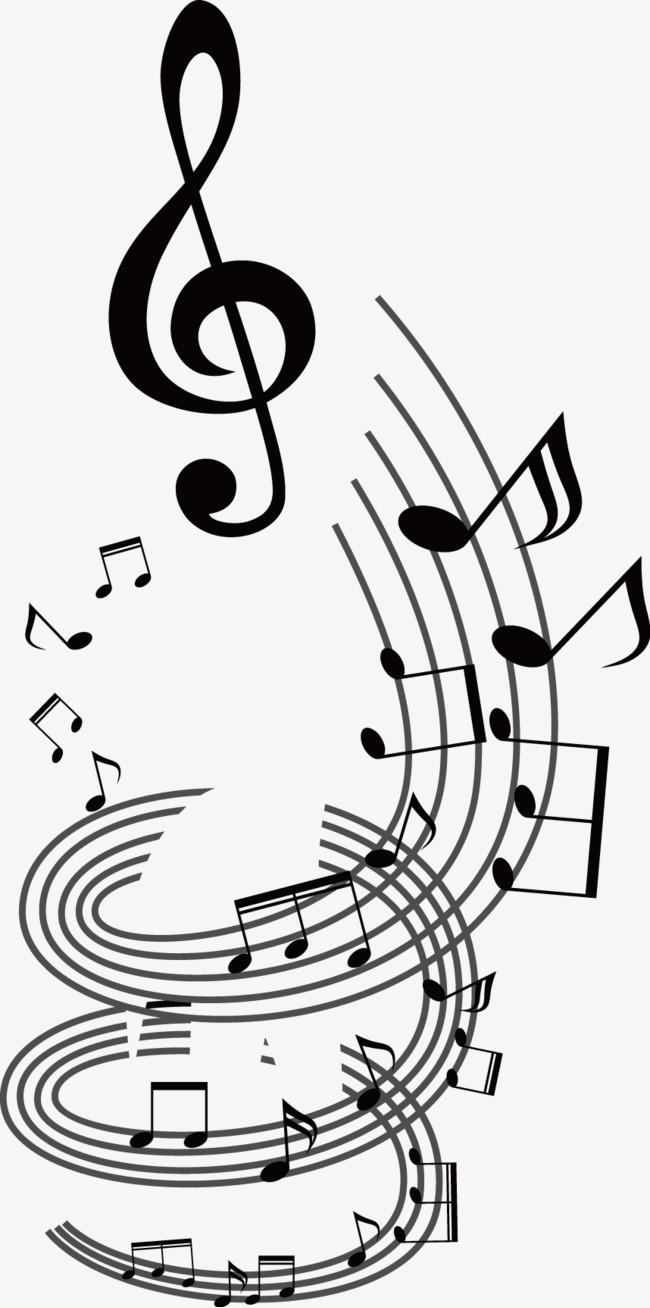 音符旋律图图片